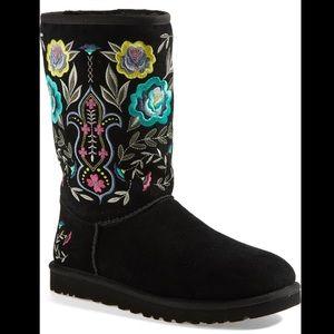 Ugg juliet embroidered boots black 6